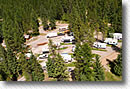 RV park in Montana aerial view