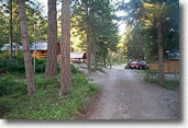 Cabins at Whitefish KOA campground
