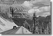 Going to the Sun Hwy, Glacier National Park, 1941