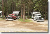Antique cars at our Montana RV campground